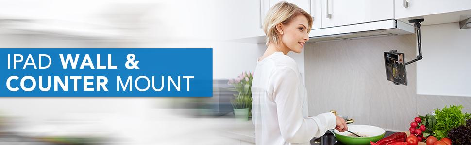 MOUNT-IT! Adjustable iPad Wall and Counter Mount