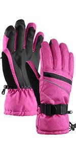 Fonction /écran Tactile Chaud Imperm/éable Coupe-Vent Antid/érapant Respirant Femmes Gants de Ski Gants dhiver Gants Thermiques Dames Andake 3M Thinsulate