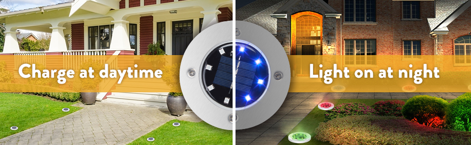 solar ground light outdoor led disk lights outdoor garden pathway lights lawn walkway light