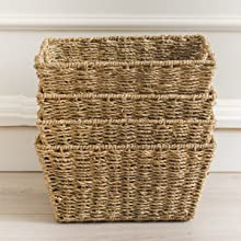 wicker storage bins