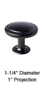 flat black cabinet knobs retro knobs for dresser and drawer