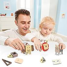 Bloques de construcción magnéticos 3d para niños