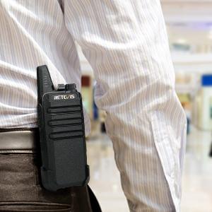 walkie talkie with large belt clip