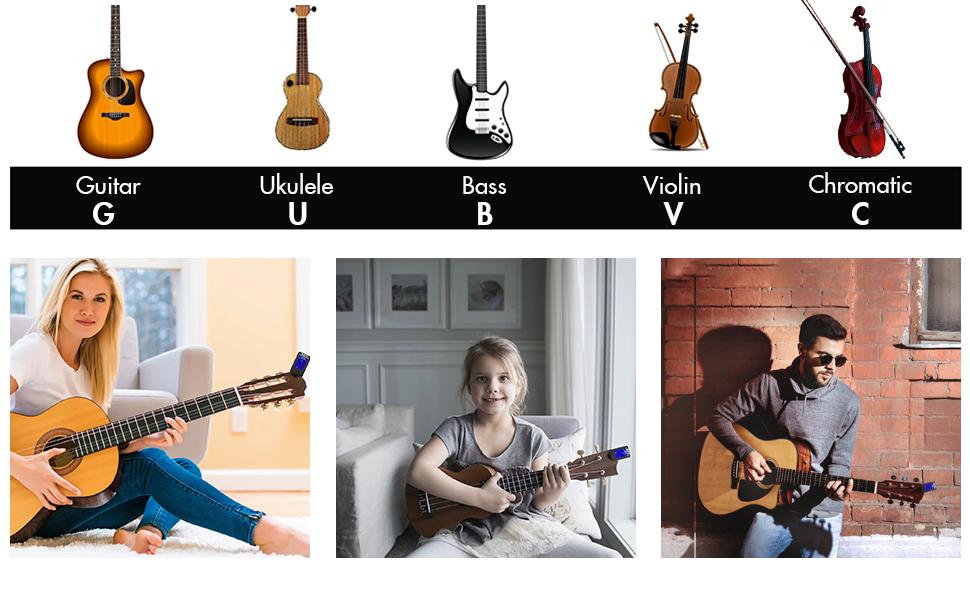 GoZheec Juego de afinador y cejilla para guitarra, afinador ...