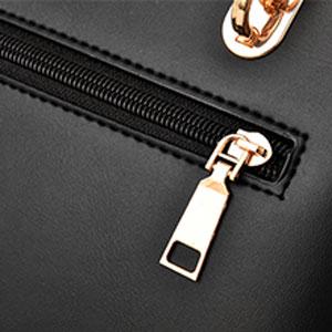 convenient back zipper pocket