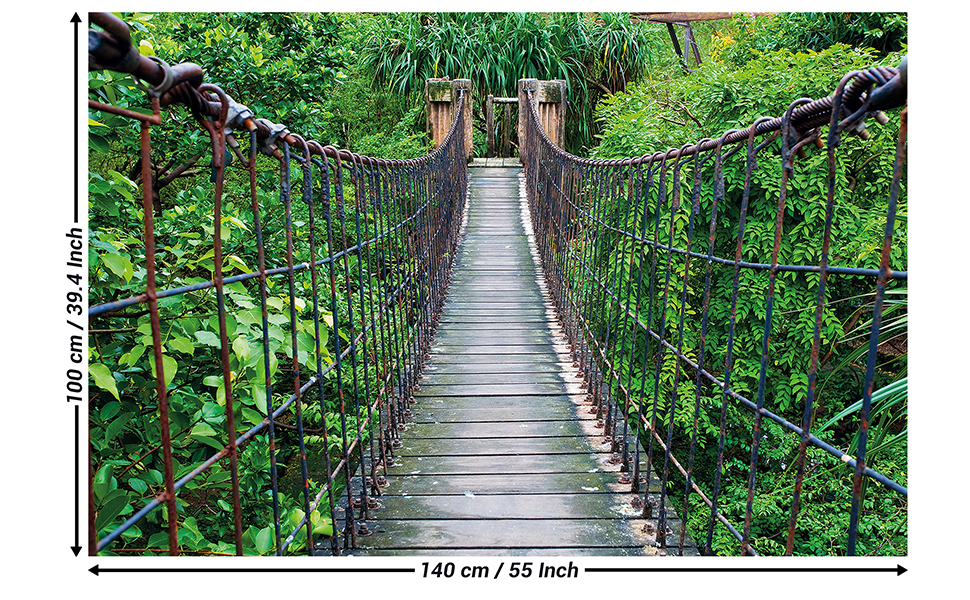 TROPICAL 12016 BRIDGE TO PARADISE SCENIC POSTER 12x36