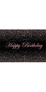 Black and Pink Photo Background Girls Sweet Happy Birthday Party Banner Backdrop