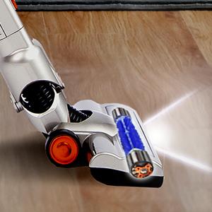 cabezal con motor, luz LED, cepillo, ruedas