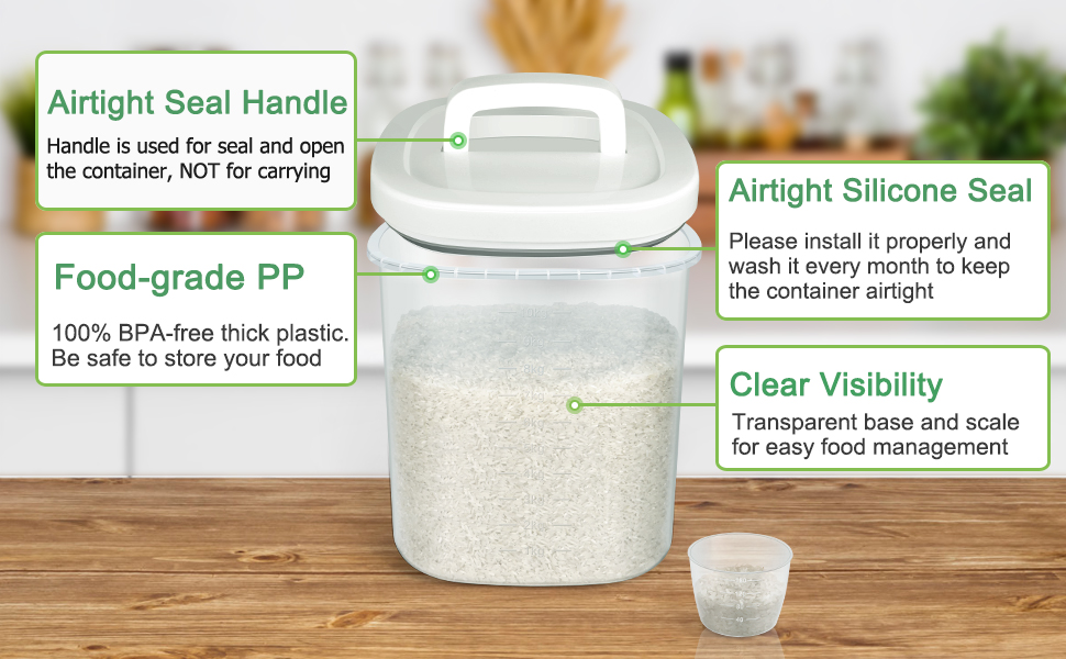 large rice container