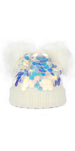girl's beanie hat cap knit fleece lining Christmas gifts for daughter granddaughter niece present
