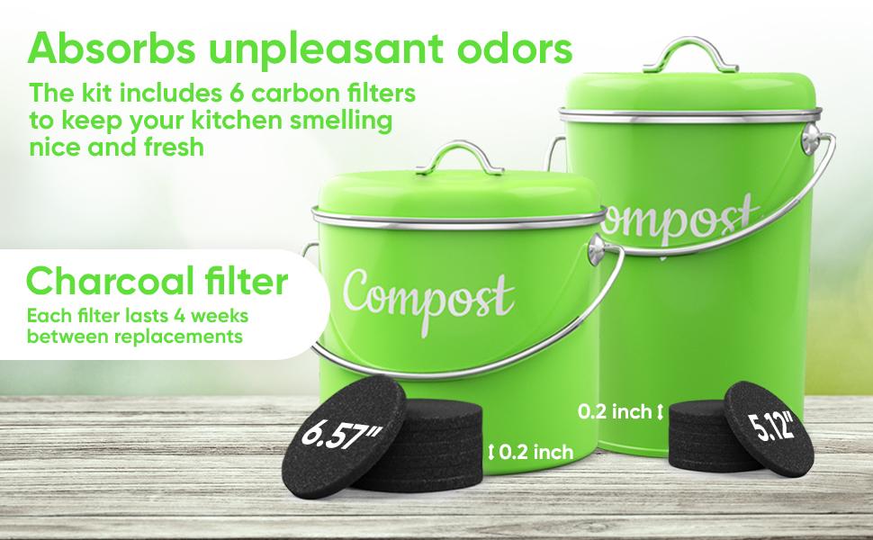compost bin indoor kitchen sealed