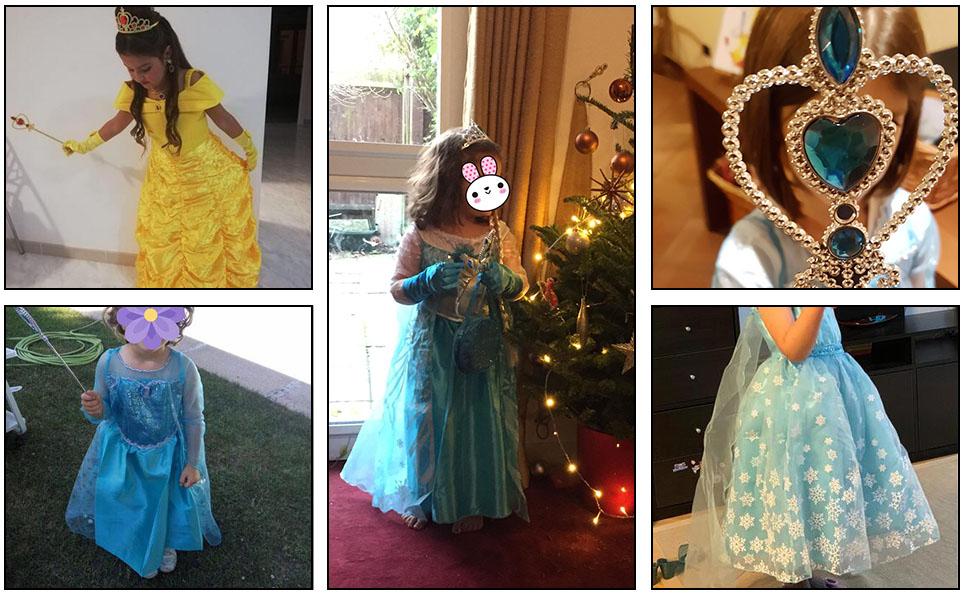 Enfant Princesse Accessoires Diadème Baguette De Conte De Fées Déguisement Fille