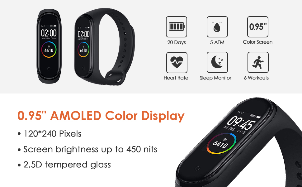 Xiaomi Mi Band 4 Pulsera de Actividad, Reloj Xiaomi, Fitness ...