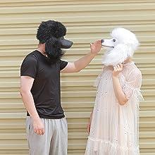 black poodle mask