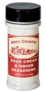 Amish Country Popcorn Sour Cream Onion Seasoning Flavor Topping