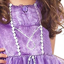 Sofia the First Costume Purple Princess Dress RAPUNZEL COSPLAY