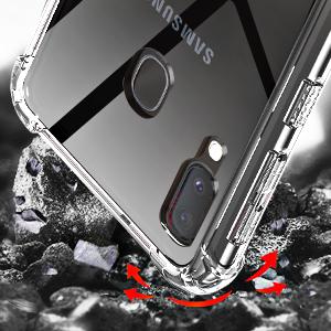 samsung A20 clear case