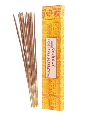 Goloka Nag Champa Incense Stick Agarbathi Pack of 250 gm
