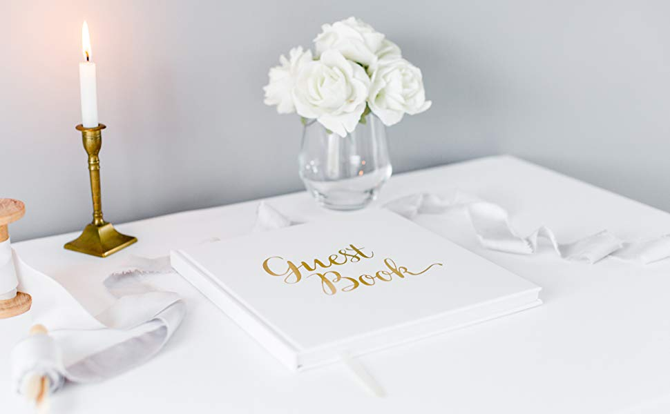 guest book white gold