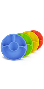 silicone divided plates for toddlers