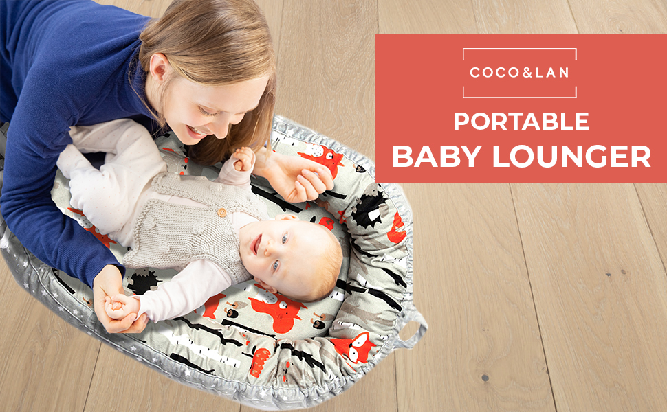 portable baby lounger Soft and Breathable Newborn Lounger Reversible Baby Nest Sleeper