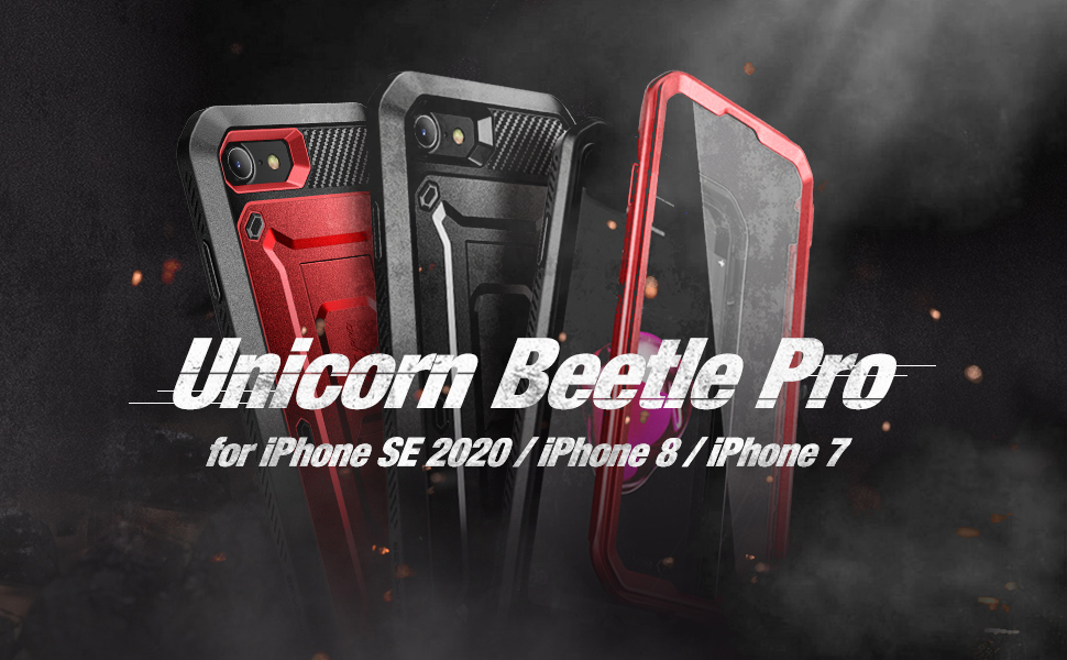 SUPCASE Unicorn Beetle Pro Case for iPhone SE 2020 iPhone 7 iPhone 8 Full-Body Holster Kickstand