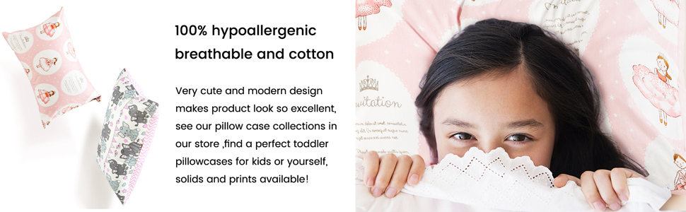 100% hypoallergenic breathable and cotton