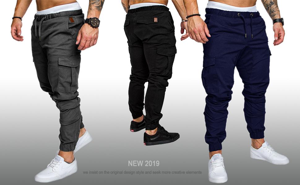 Socluer Homme Pantalons Casual Jeans Sport Jogging Slim Fit Militaire Cargo Montagne Baggy Pants Multi Poches Grande Taille M 4XL