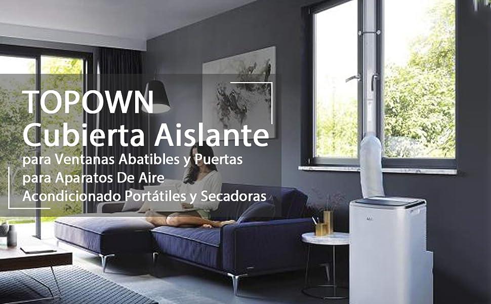 TOPOWN 210x90cm Kit Puerta Aire Acondicionado portatil Cubierta ...