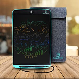 Work without distrations 12 inch LCD display, colourful writing board