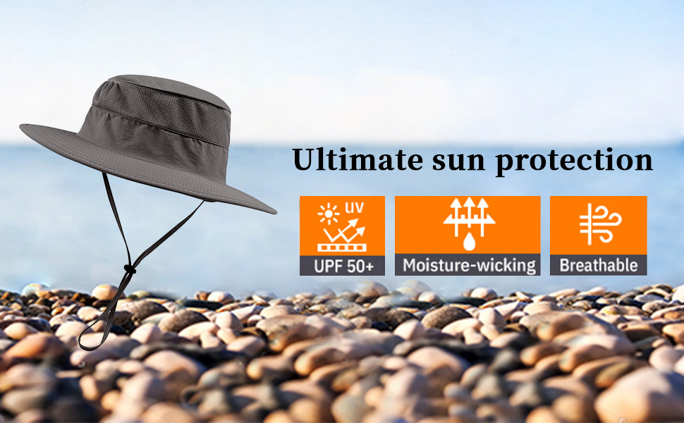 BESPORTBLE Sombrero de Sol con Cubierta Facial Protecci/ón de Viaje Al Aire Libre en La Playa Gorra de Senderismo Gorra de Pesca Gorra de Verano para Hombres Mujeres Gris Claro