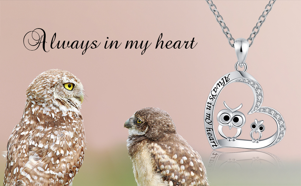 mother daughter owl necklace