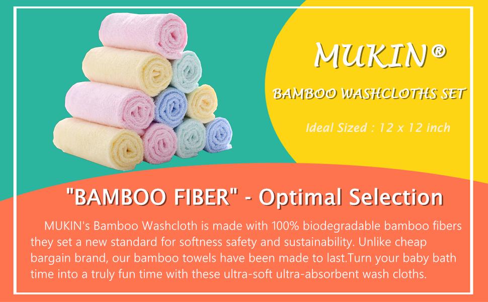 washcloths set bamboo