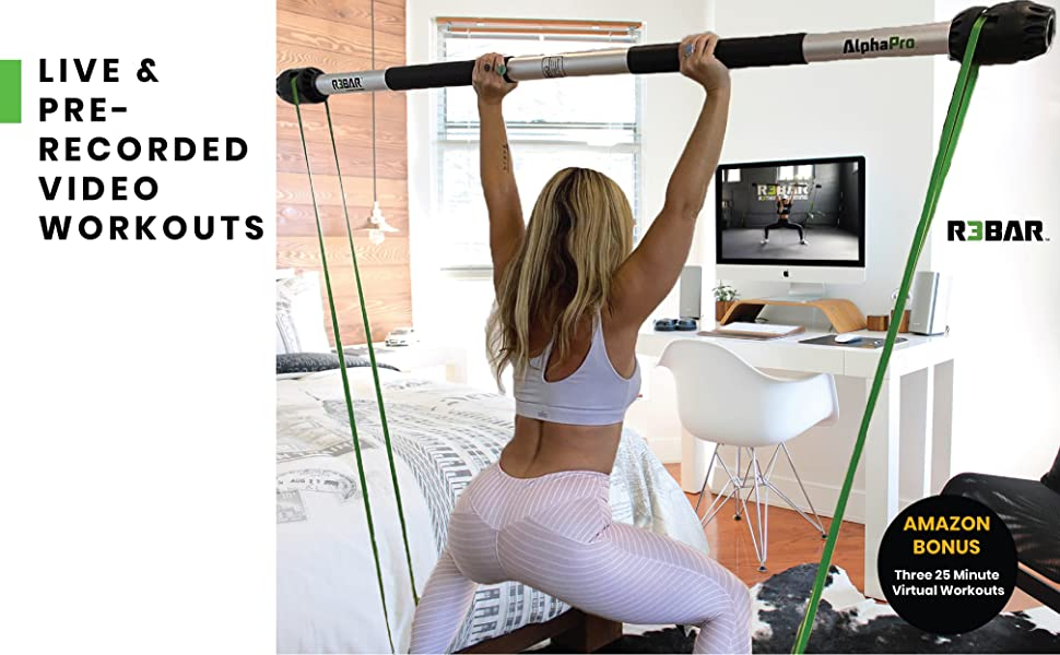 Live & pre-recorded video workouts