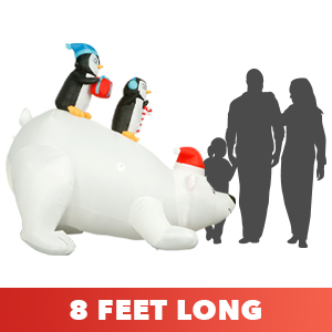 polar bear penguins inflatable