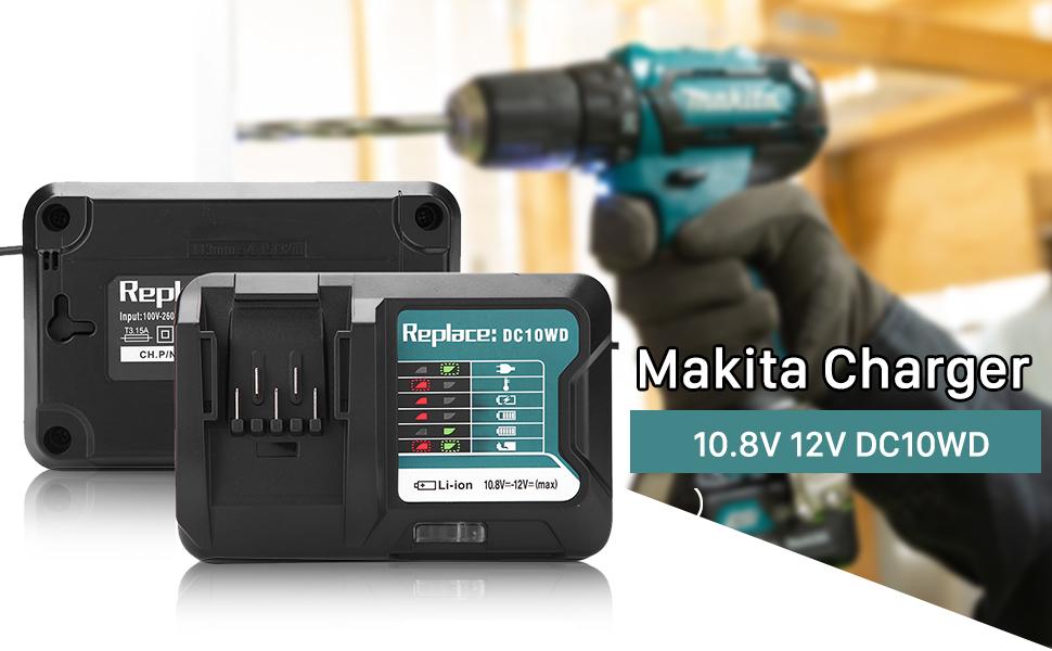 Ladegerät für Makita DDF451 DHR165Y1J DTS141Y1J UB120D BDA350 5621RD Ladekabel