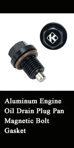 Aluminum Engine Oil Drain Plug Pan Magnetic Bolt Gasket