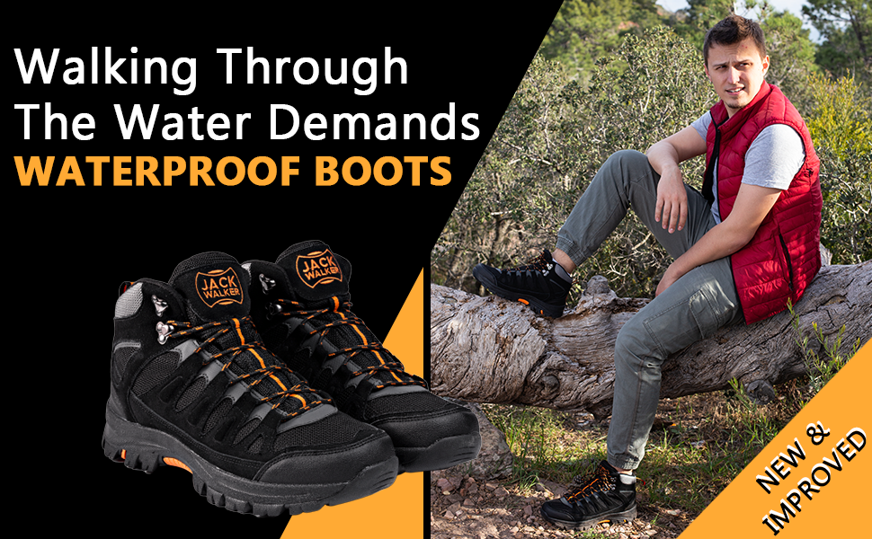 These lightweight waterproof boots are perfect for your next outdoor adventure camping walking