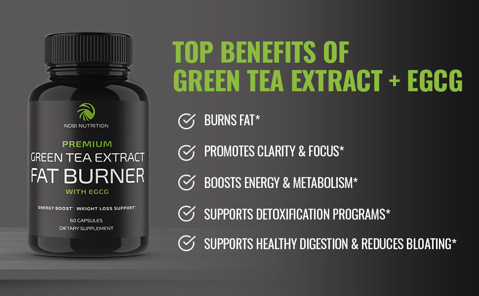 Nobi Nutrition Green Tea Fat Burner - Green Tea Extract Supplement with EGCG - Diet Pills, Appetite Suppressant, Metabolism & Thermogenesis Booster - Healthy Weight Loss for Women & Men 17