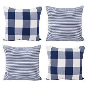 navy blue pillow covers