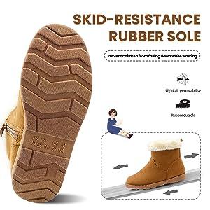 non-slip rubber sole