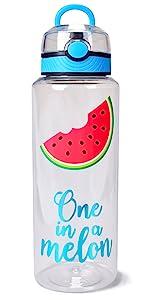 large flip lid water bottle