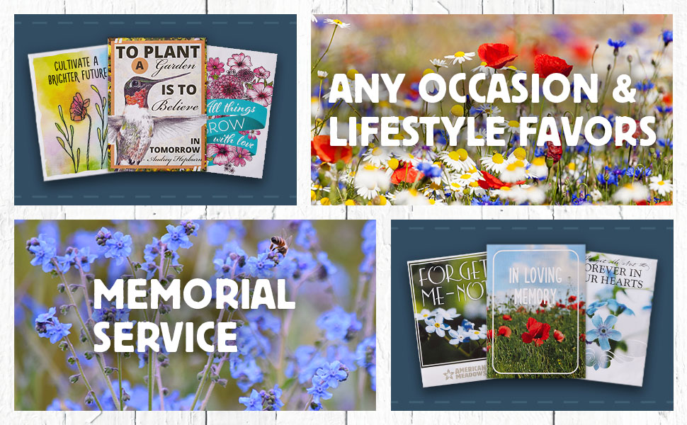 images featuring each of our collections from memorial services to thank you cards and favors