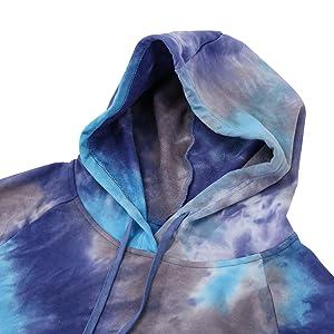 men hoodie tie dye