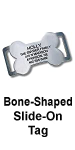 Bone Shaped Slide-On Tag