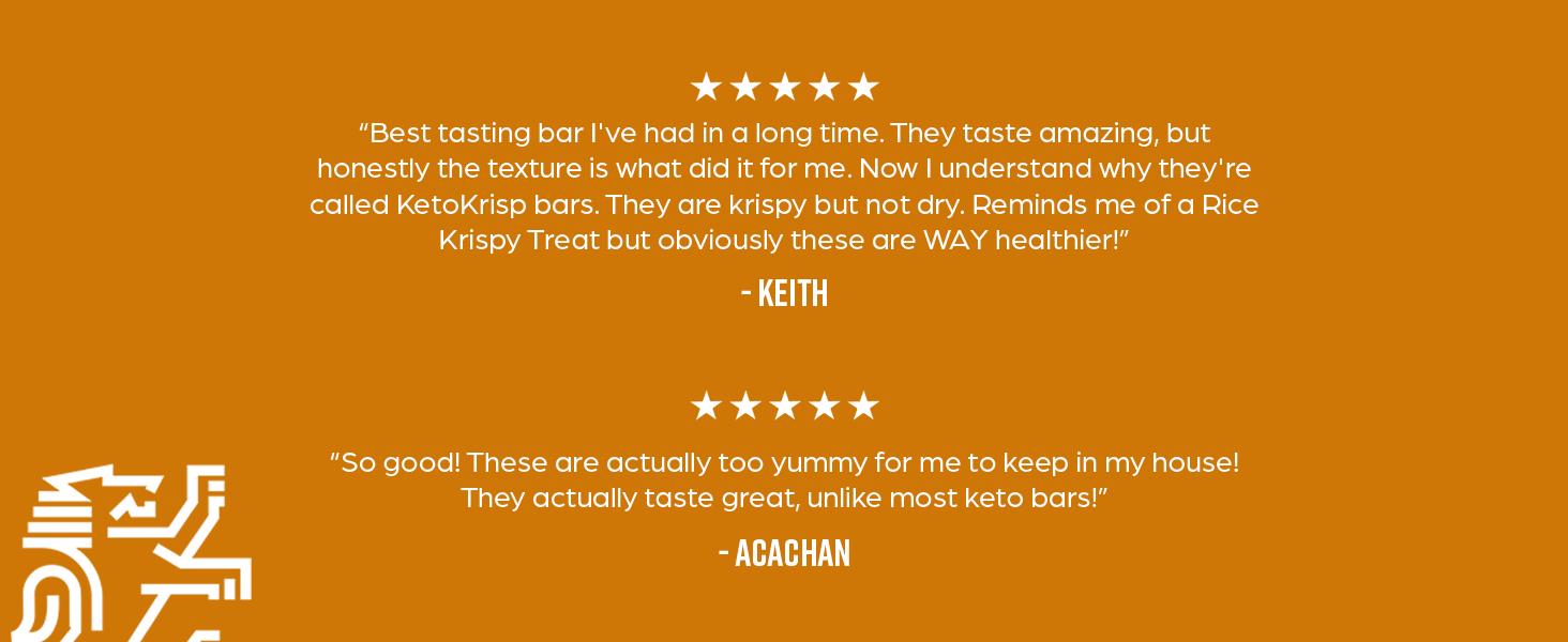 Keto Krisp Keto Bars - Low-Carb, Low-Sugar - (12 Pack, Almond Butter) - Gluten-Free Crispy