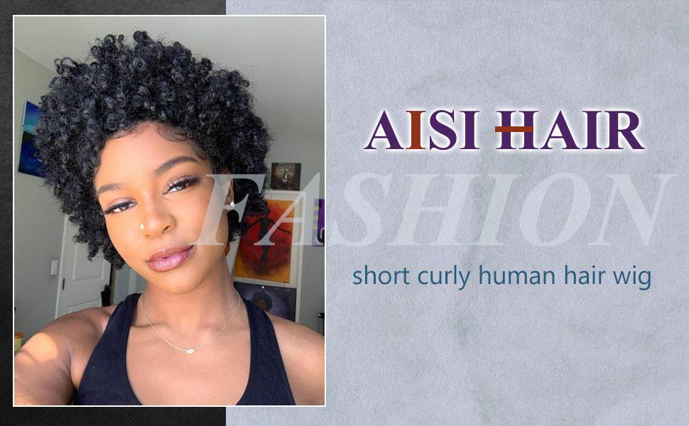 Short kinky curly hair
