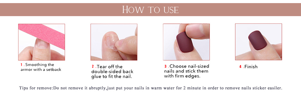 Press on nails for women and girls