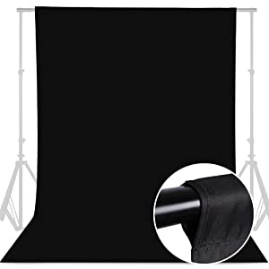 camera background screen black cloth for background black drop with stand black curtain photography