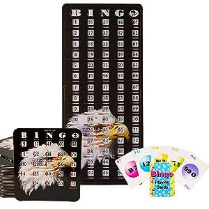 bingo set with shutter slide cards